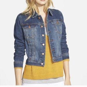Eileen Fisher Denim Organic Cotton Cropped Jacket